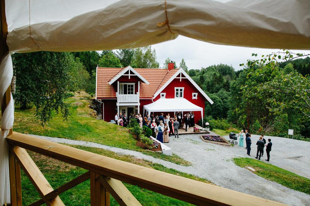 Bryllup i hagen
