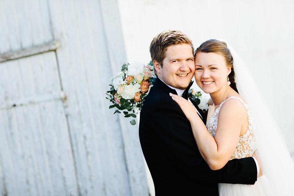 Bryllupsbilde fra Ørje i Østfold.