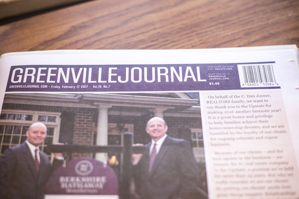 Greenville Journal- one of the publications my work was in.