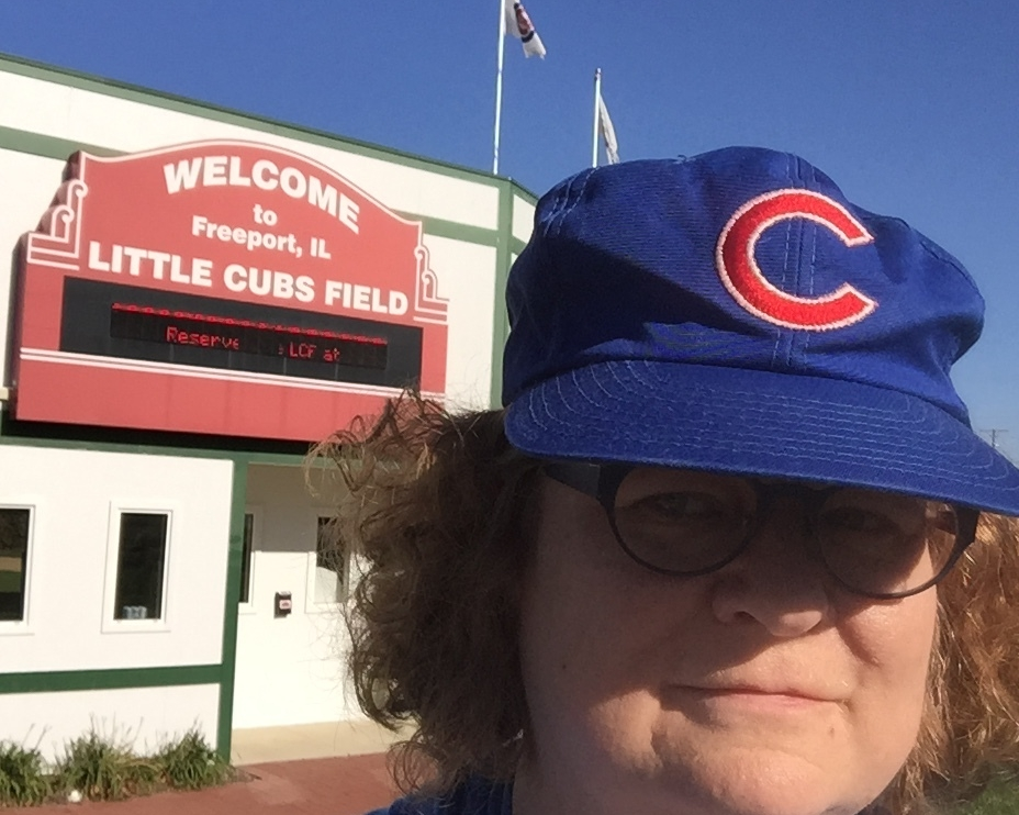 Selfie of me at Little Cubs Field, Freeport, IL