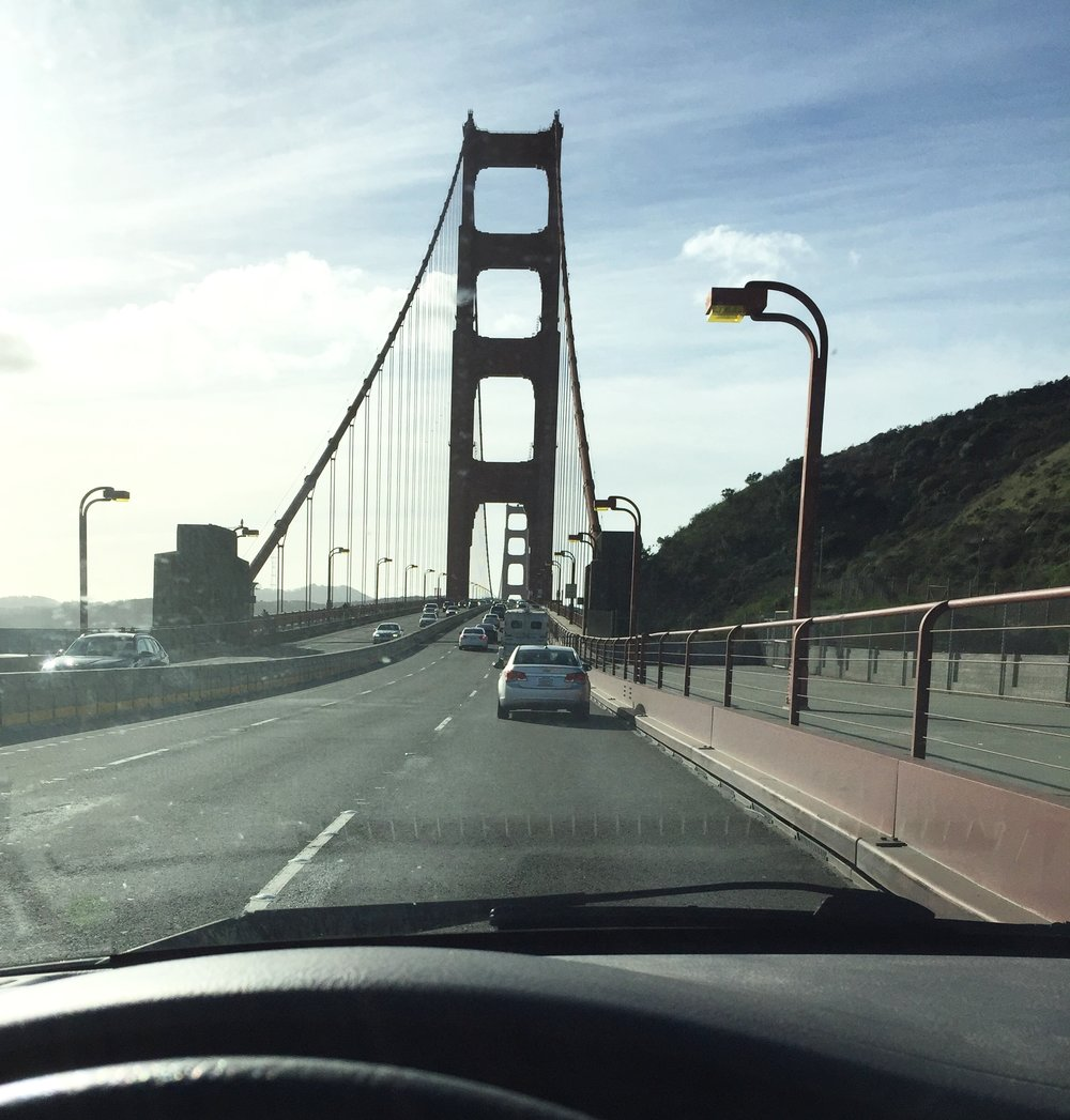 "The obligatory ""Driving Over the Golden Gate Bridge"" photo.  (Yes, I had a camera mount.)"