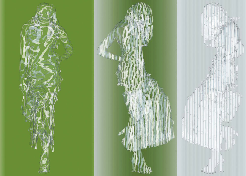Waiting In Water , glass sculpture concept