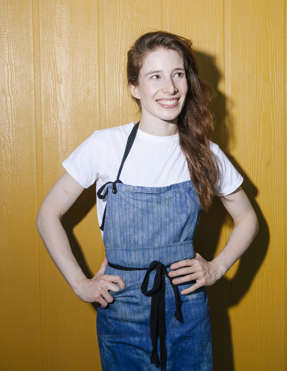 Sarah Hymanson – Chef/Partner  Sarah Hymanson is a Chicago native and an Oberlin College graduate. In NY, Sarah worked at applewood, and both Blue Hill in the city and the famed Blue Hill at Stone Barns. After opening the NY outpost of Mission Chinese with Danny Bowien, she joined Sara Kramer at Glasserie. In 2015, she and Kramer opened Madcapra, a produce-driven falafel shop in the Grand Central Market. Sarah loves all funky and fermented foods, documentaries, sunscreen, and capybaras.