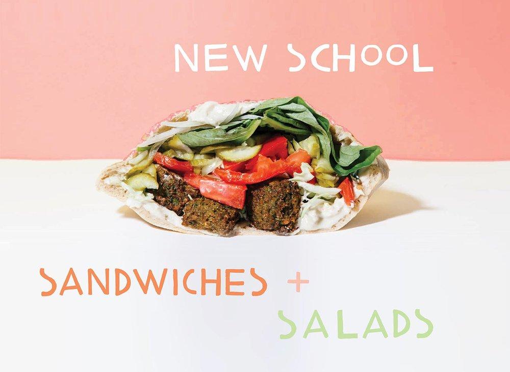 new school sandwiches + salads / kismet falafel classic falafel