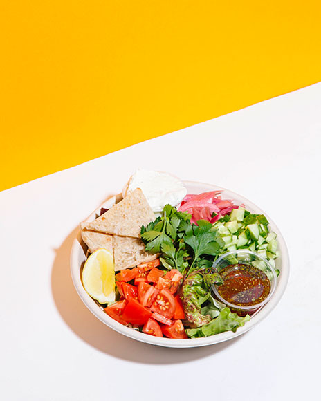 kismet falafel greek salad