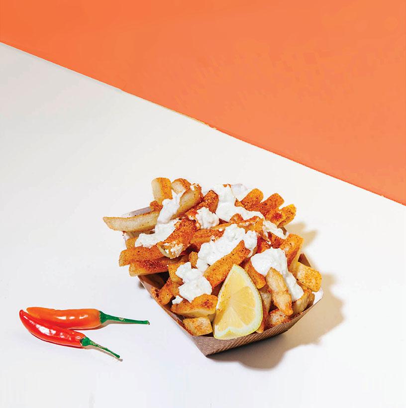 kismet falafel spicy fries