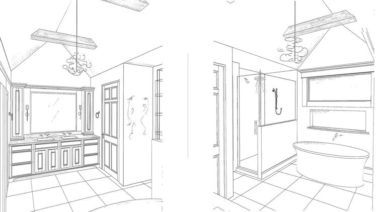 New master bath plan by Design Classics