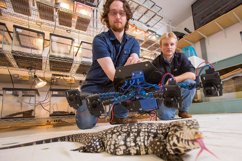 First Generation of the Beastcam Technology scanning a Tegu