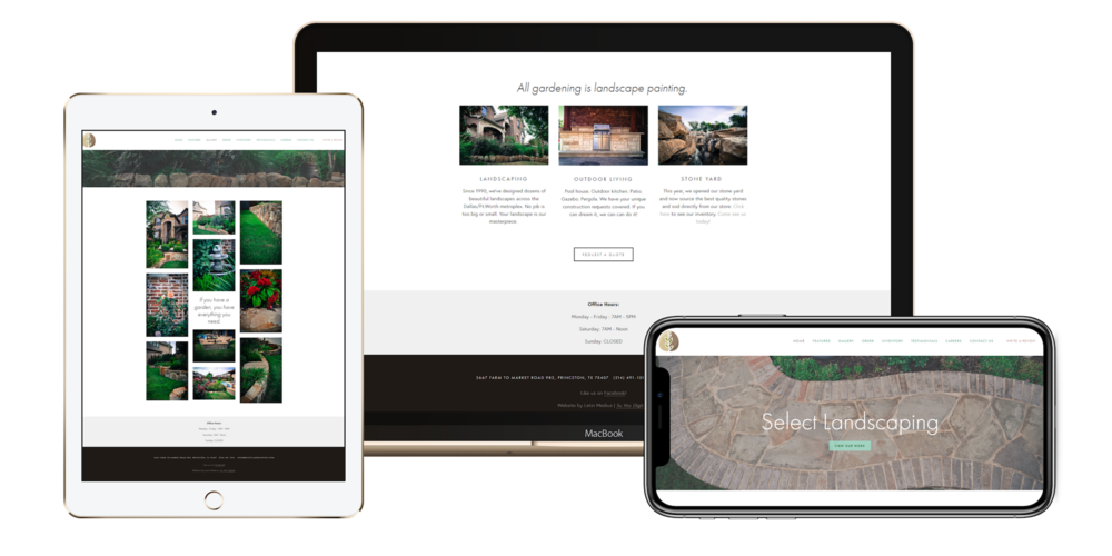 """""""Best website designers out there !"""" - -Leslie, Select Landscaping"""