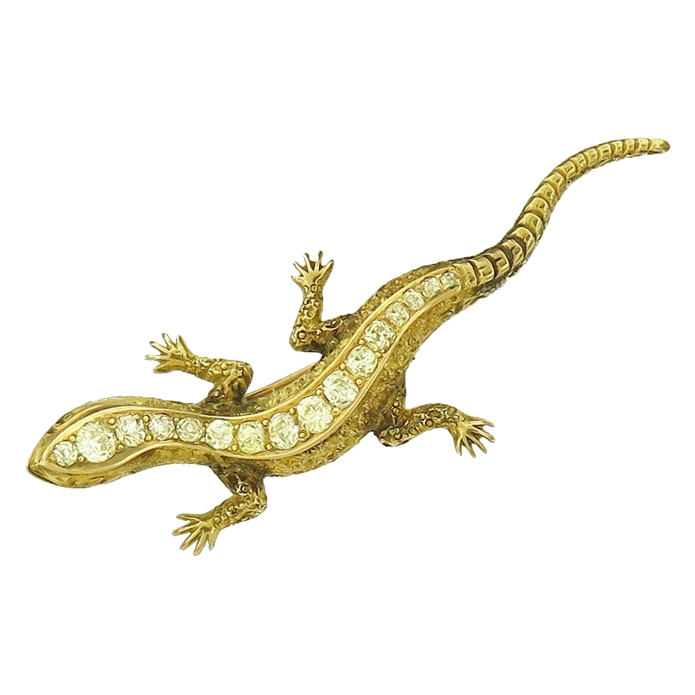 Gold and Diamond Lizard