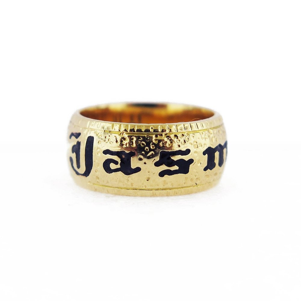 "Victorian Mourning Band Ring (""Jasmine"")"