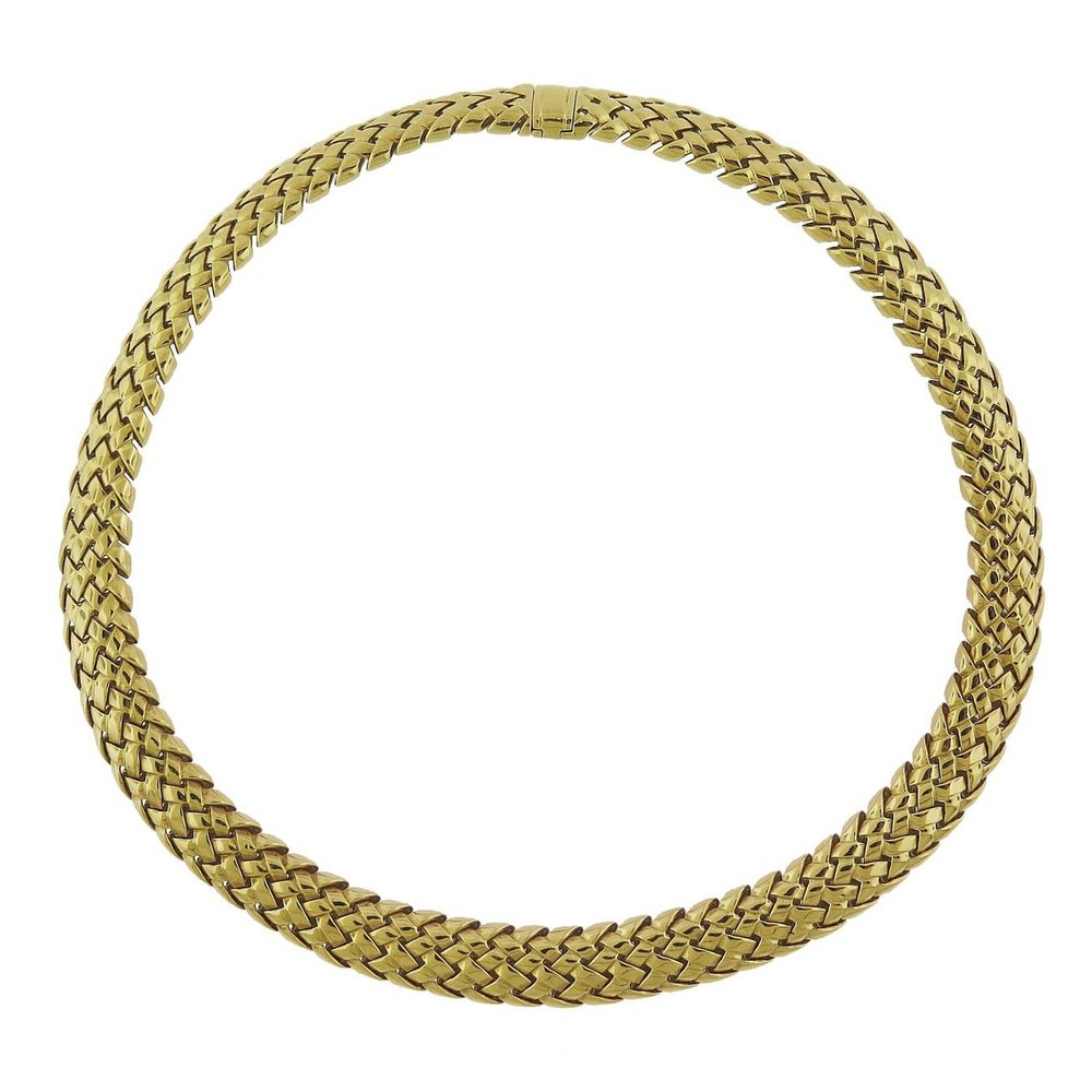 Tiffany & Co. Vannerie Gold Collar Necklace