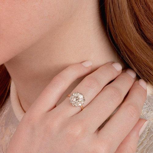 1-Carat Halo Diamond Ring — DK Bressler   Co. 70500c89b8