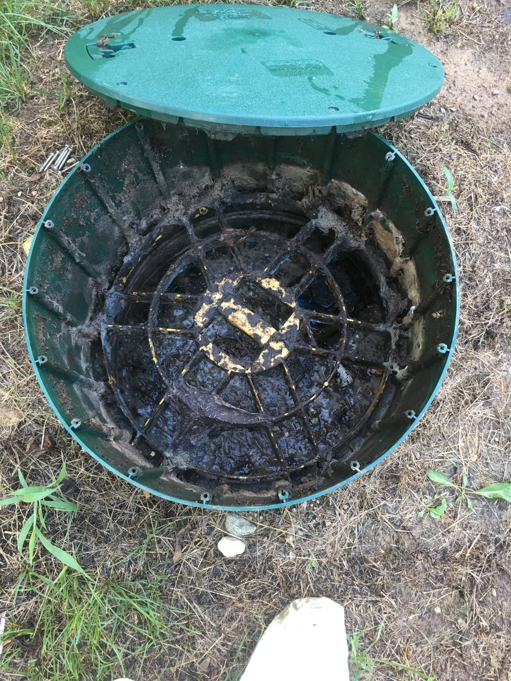 Scum layer had elevated as a result of the Filter needing changed, possibly had not been pumped in awhile. It is recommended to have your septic pumped every 3-5 years. -