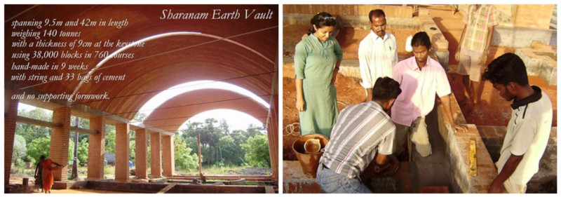 Left: The vault of Sharanam Rural development Centre; Right: Trupti and team Source