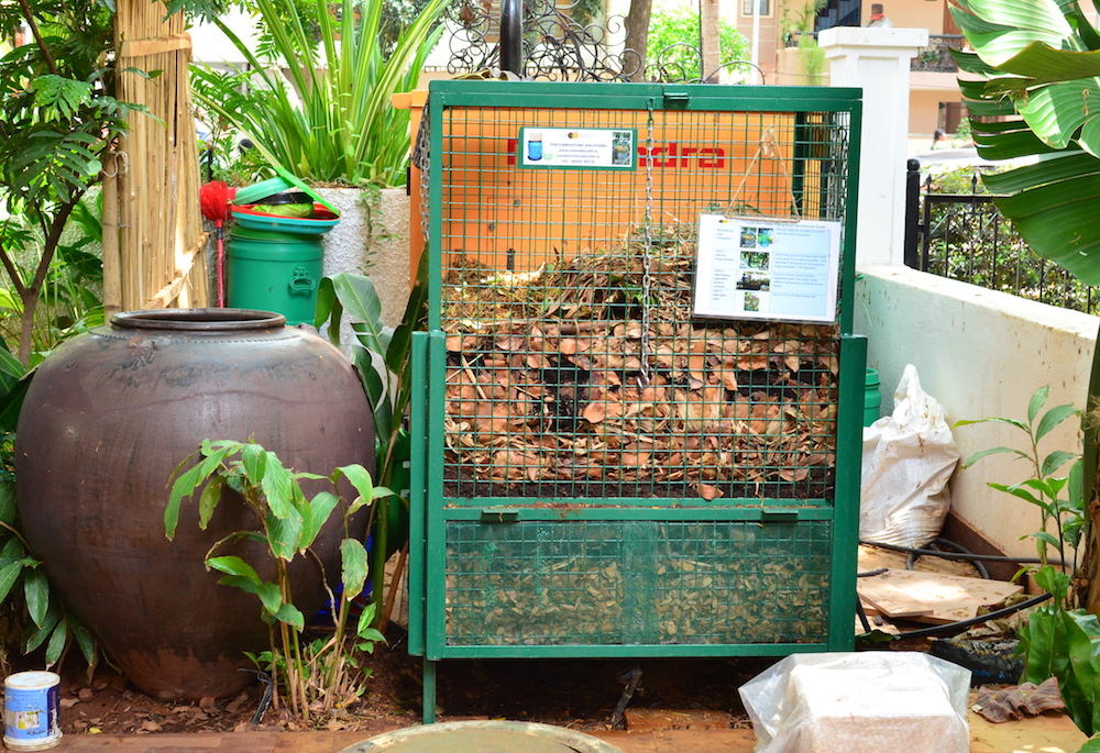 Garden litter composted on site. Image: Eartha