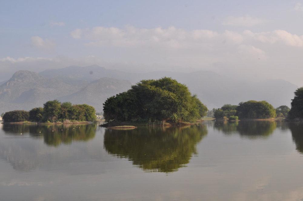 The 58 acre Mookaneri Lake in Salem, Tamil Nadu, now transformed into Maariamman Sthalam, a sacred space of the Goddess Maariamman