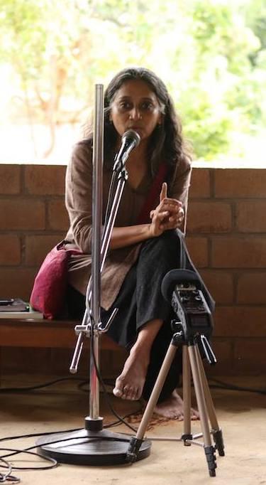 Kavitha Kuruganti at Bhoomi College, Bangalore Image: Facebook/ Bhoomi College