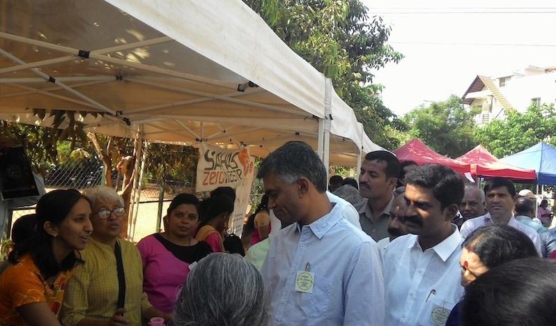 Karnataka Agriculture Minister Krishna Byre Gowda attends a Composting Santhe Image: Vani Bhaskar/ Facebook