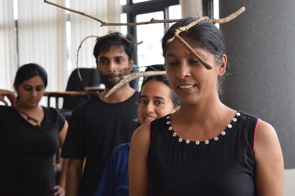 Actors rehearse Image credit: Vinay Chandra