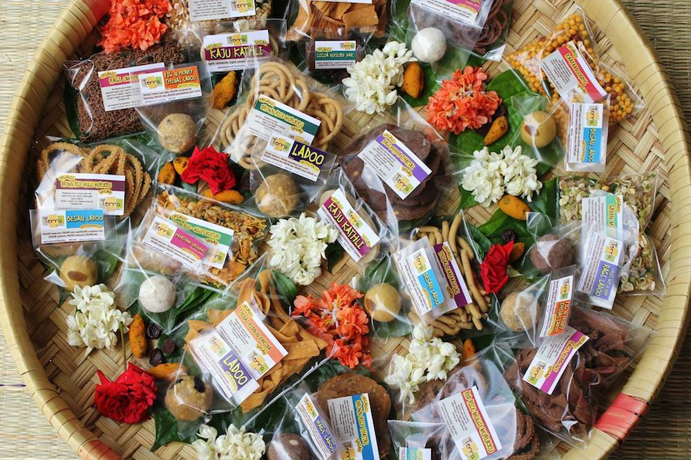Terra Earthfood's basket of 'wholesome snacks'does away with refined, polished and bleached ingredients. Image: Facebook/ Terra Earthfood