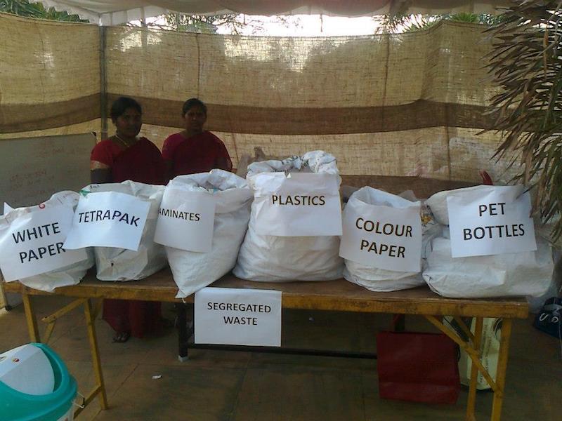 Dry waste segregarted by Saahas staff Source: facebook.com/saahas