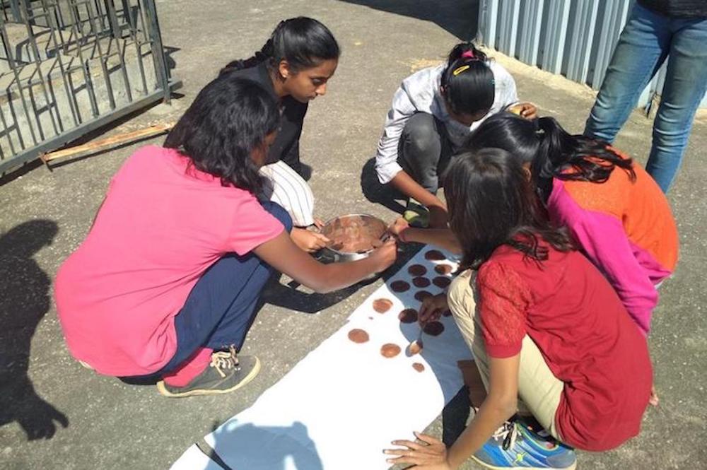 Drying ragi papad in the sun Image: Facebook/ The Ragi Project