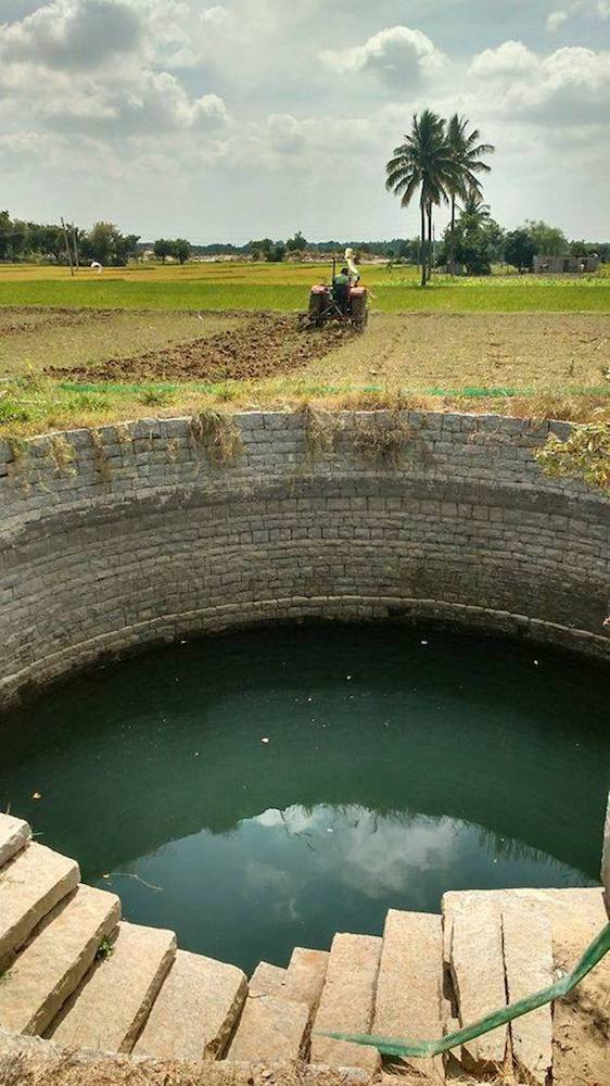 The well is full because the percolation tank upstream of it is full. The tank is full due to heavy unseasonal rains.