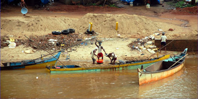 Sand mining is ruining coastlines, riverbanks, and other important ecosystems around the world, especially in the developing world where government oversight gives rise to illicit mining and black markets.  Source