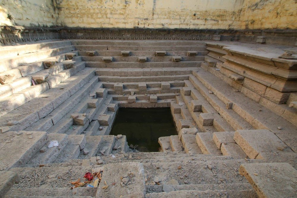 Someshwar Temple Stepwell in Pimpari Dumala, a small village in Pune with two beautiful stepwells that store rain water for 3-4 months.