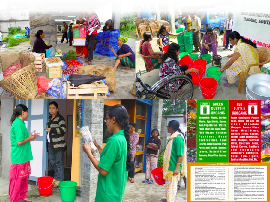 Training of residents and shopkeepers