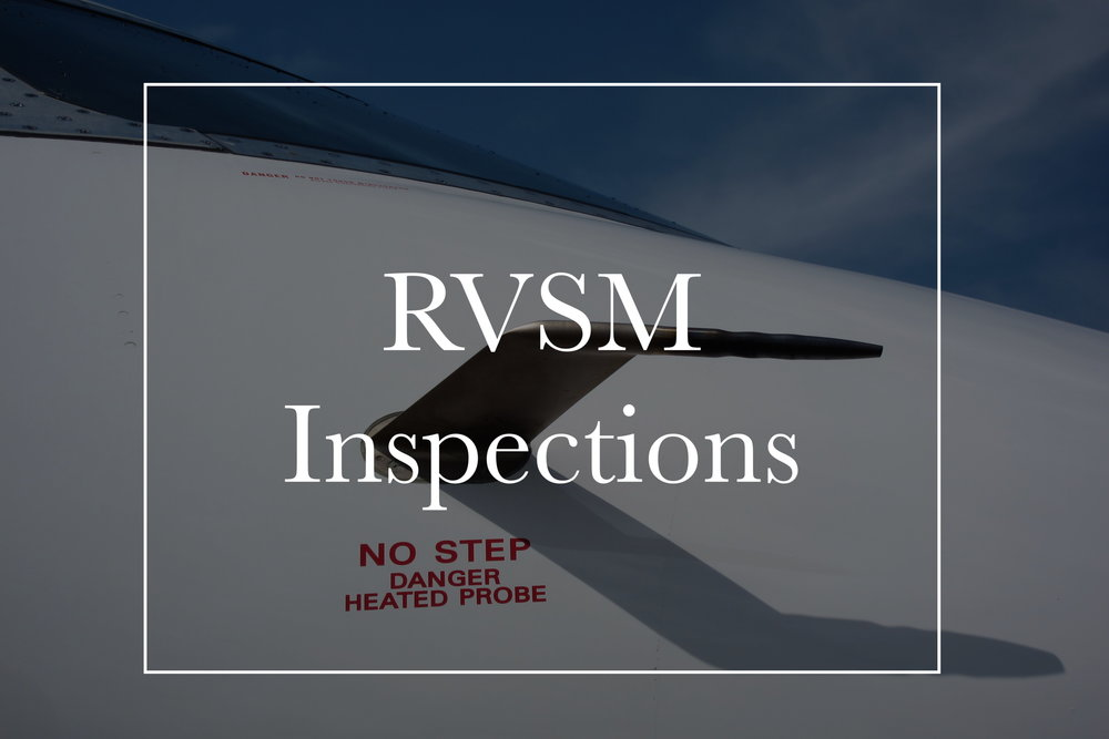 We can help you with RVSM inspections for your aircraft.