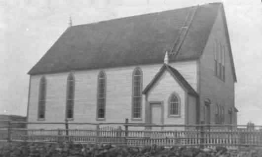 Ochre Pit Cove Methodist Church. Built in the 1880's. Photo taken 1919.