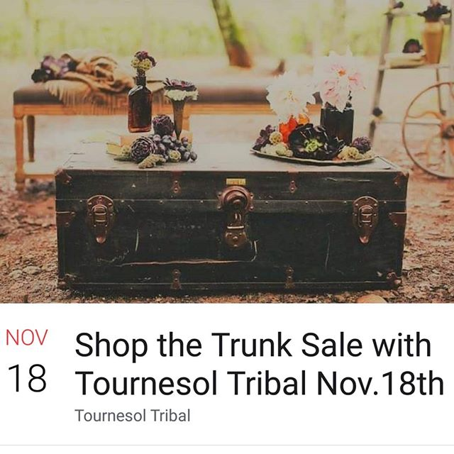 Super excited to share with all of you that we are doing an online trunk sale this Sunday at 6pm (EST)  Nothing can be better than shopping for tribal wares from the comfort of your own home!  You can find all the additional info on our FB page. 😊 https://www.facebook.com/events/261366531247153/?ti=cl . . . #tribalbellydance #tribalstyle #trunksale #shopthetrunk #shoponline #shopfromhome #bellydanceflorida #bellydance #americantribalstyle #tribalfusion #boho #bohemian #hippie #gypsy #gypsycaravan #freespirit #buyallthethings #handmade #jewelry #textiles #worlddance #worldculture