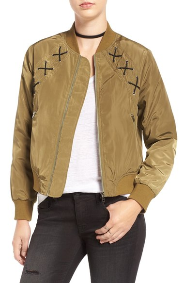 Elodie Crosstitch Bomber Jacket $65