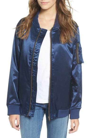 BP. Satin Bomber Jacket $75
