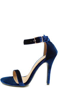 Time to Party Navy Ankle Strap Heel