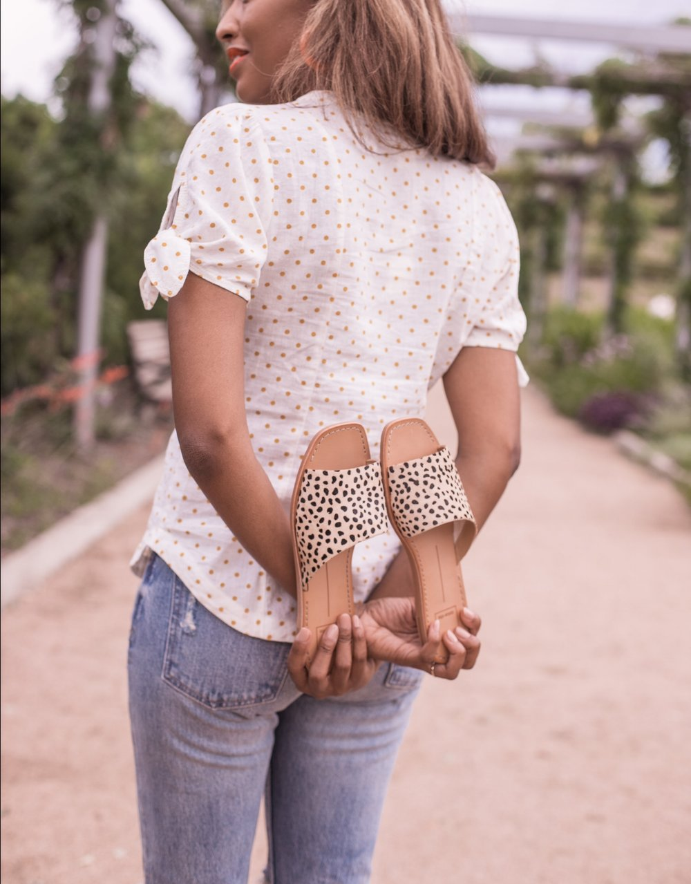 LEOPARD SHOES  //  POLKA DOT TOP