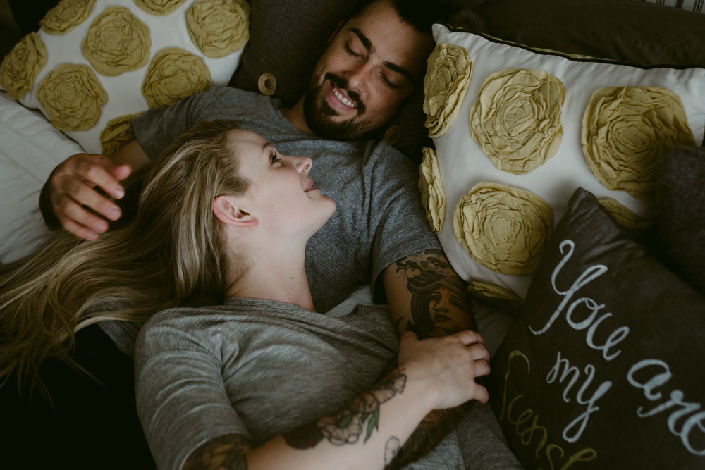 in-home couple photography © lisa kathan photography