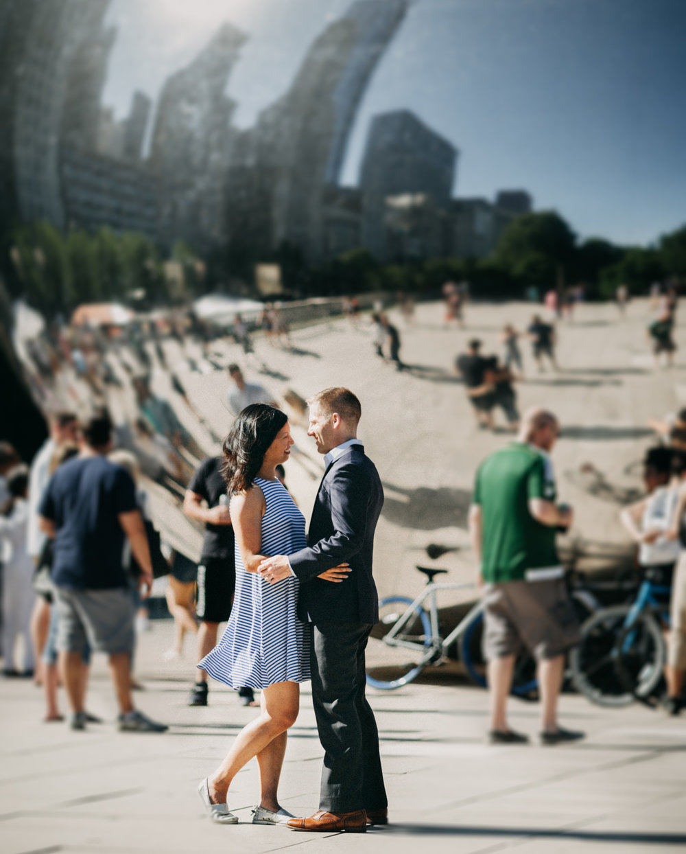 summer engagement session | the bean chicago