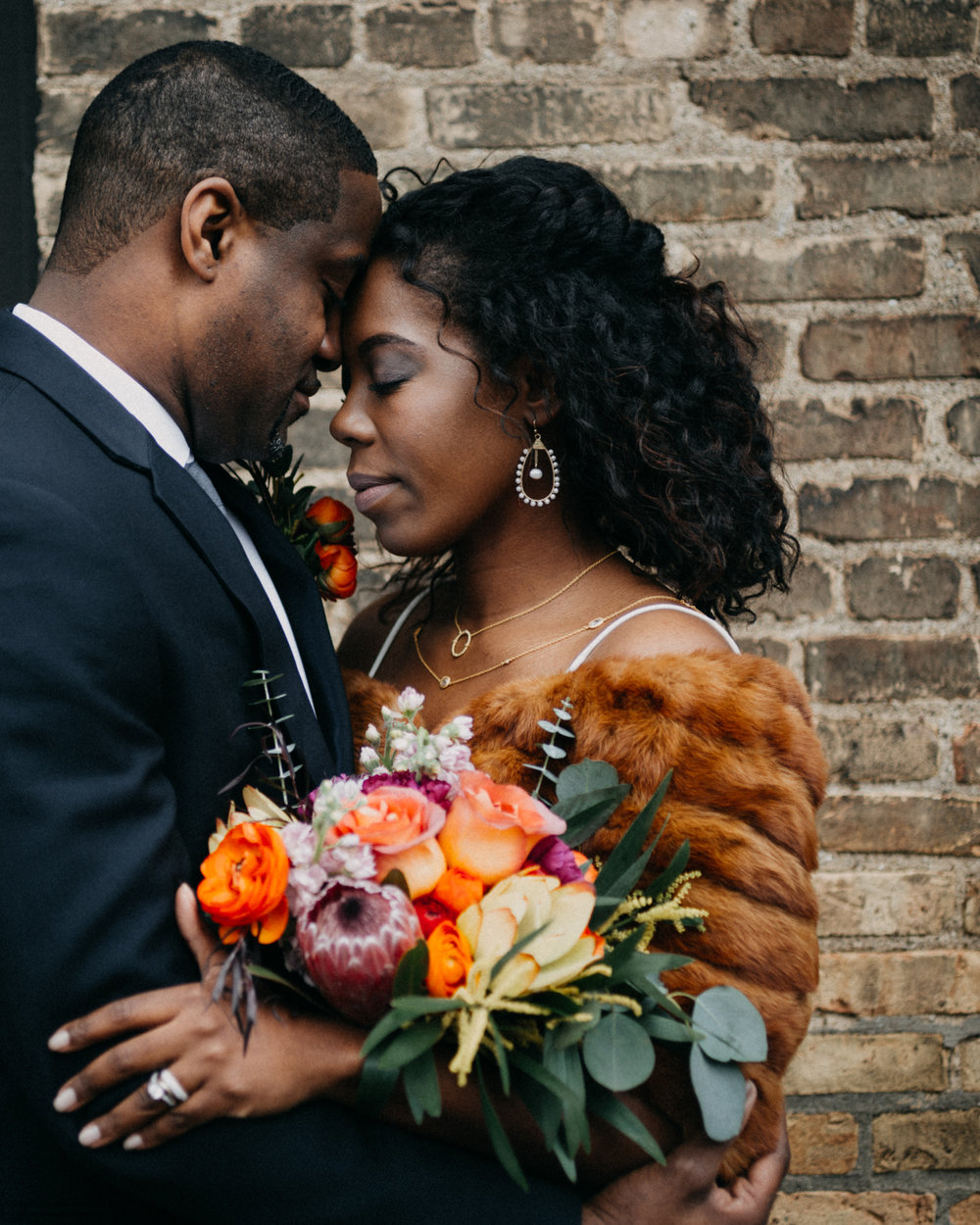 couple sharing a moment | chicago elopement photography