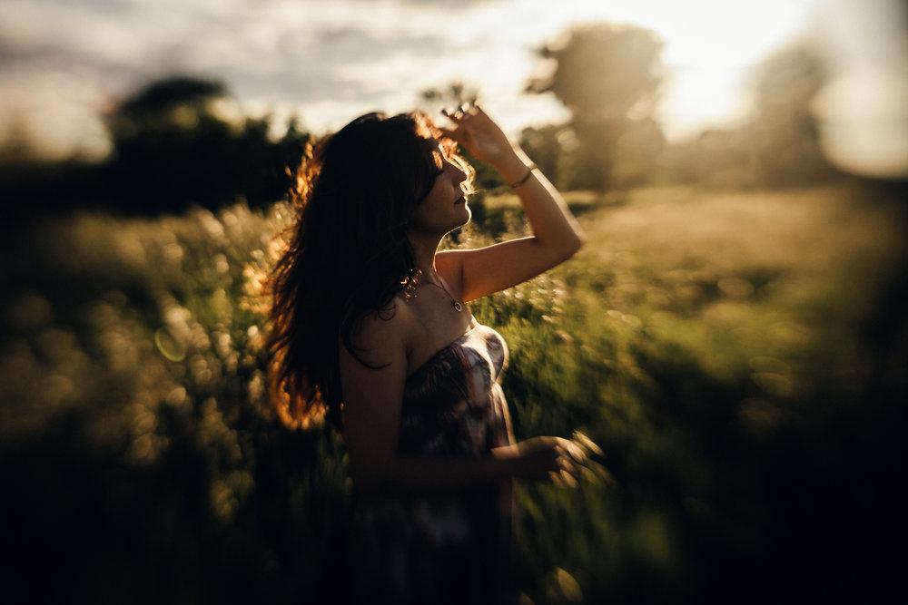 girl at sunset | chicago senior photographer