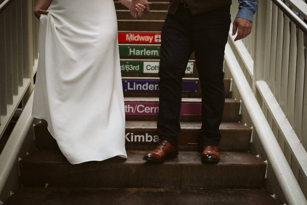 Chicago el | Chicago elopement | lisa kathan photography