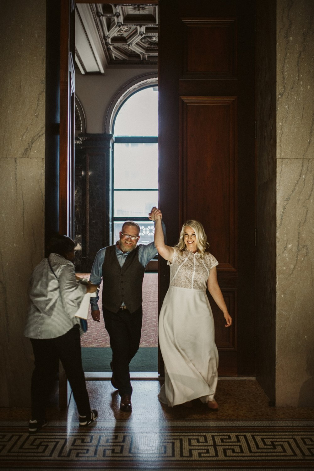 just married Chicago | tiny weddings | lisa kathan photography