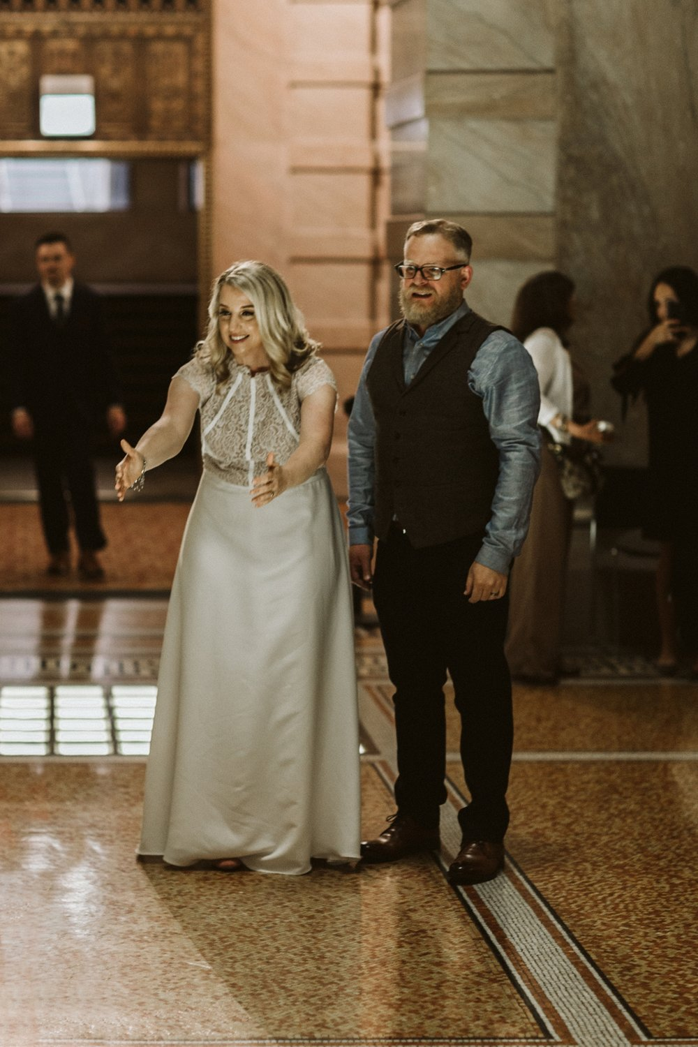 Chicago Cultural Center weddings | tiny weddings | lisa kathan photography