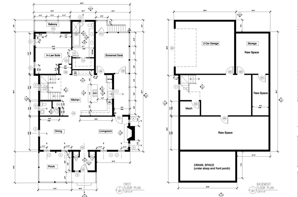 proposed terrace & first floor plans