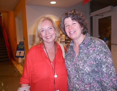 With Meg Wolitzer, 2012