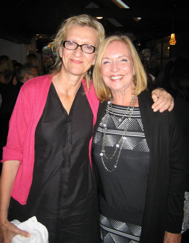 With Elizabeth Strout, author of Olive Kitteridge, 2010