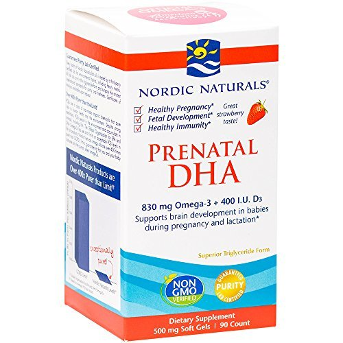 A woman's demand for the omega-3 DHA increases during pregnancy. DHA is needed for the rapidly developing brain, eyes, and nervous system in prenatal and newborn children. For mothers, DHA provides mood and nervous system support.  Also added to this prenatal fish oil is vitamin d3 for optimal health of mom and baby.