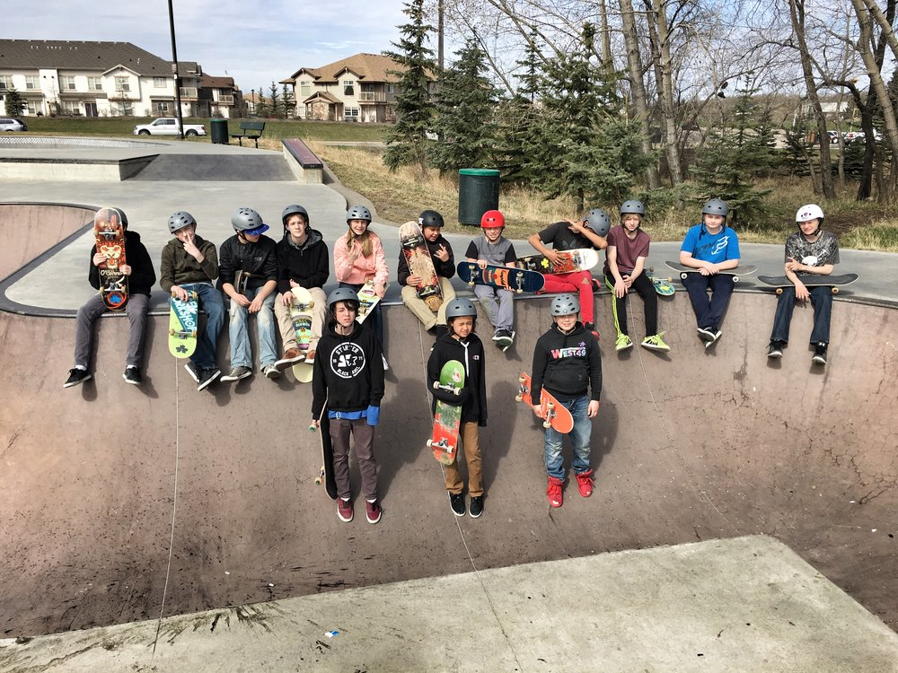 Skate Class continues to thrive as Canada's first school-based skateboard option for middle school students in Red Deer, Alberta.